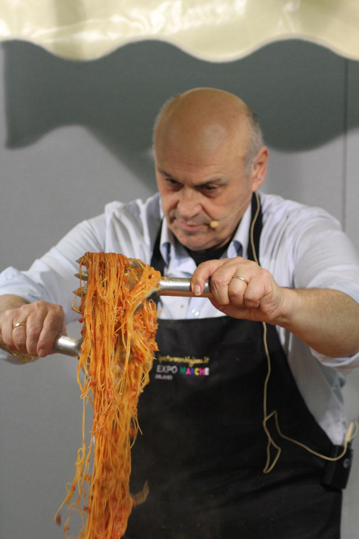 Al BIT per la Regione Marche, grande Show Cooking storico e tecnico del Pastaro Marchigiano Francesco Conti